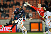 FOOTBALL - FRENCH CHAMPIONSHIP 2009/2010 - L1 - PARIS SAINT GERMAIN v FC LORIENT - 6/02/2010 - PHOTO GUY JEFFROY / DPPI - GUILLAUME HOARAU (PSG)