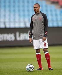 Nikolas Nartey (Danmark) før U21 EM2021 Kvalifikationskampen mellem Danmark og Ukraine den 4. september 2020 på Aalborg Stadion (Foto: Claus Birch).