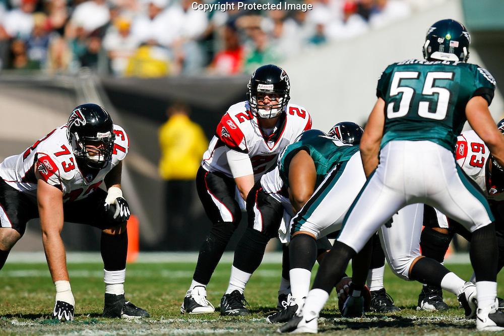 26 Oct 2008: Atlanta Falcons quarterback Matt Ryan #2 during the game against the Philadelphia Eagles on October 26th, 2008. The Eagles beat the Falcons 27-14 at Lincoln Financial Field in Philadelphia, Pennsylvania.