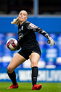 Birmingham City goalkeeper Emily Ramsey (21) during the FA Women's Super League match between Birmingham City Women and Brighton and Hove Albion Women at St Andrews, Birmingham United Kingdom on 12 September 2021.