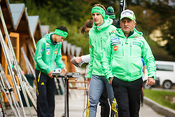 Jani Grilc and Jaka Hvala during national competition in Ski Jumping, 8th of October, 2016, Kranj,  Slovenia. Photo by Grega Valancic / Sportida
