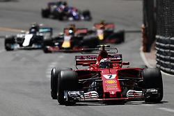 May 28, 2017 - Monte Carlo, Monaco - KIMI RAIKKONEN of Finland and Scuderia Ferrari drives during the 2017 Formula 1 Monaco Grand Prix in Monte Carlo, Monaco. (Credit Image: © James Gasperotti via ZUMA Wire)