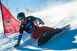 Nevin Galmarini (SUI) competes during Quarterfinals of Men's Parallel Giant Slalom at FIS Snowboard World Cup Rogla 2017, on January 28, 2017 at Course Jasa, Rogla, Slovenia. Photo by Vid Ponikvar / Sportida