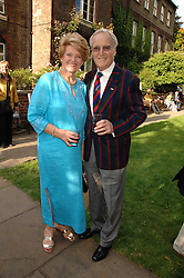 TV presenter NICHOLAS PARSONS and his wife ANNE at the Lady Taverners Westminster Abbey Garden Party, The College Garden, Westminster Abbey, London SW1 on 10th July 2007.<br />