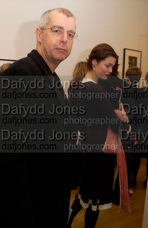 Neil Tennant and Jasmine Guinness, Cecil Beaton portraits, National Portrait Gallery, 4 February 2004. © Copyright Photograph by Dafydd Jones 66 Stockwell Park Rd. London SW9 0DA Tel 020 7733 0108 www.dafjones.com