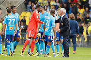 Claudio RANIERI (FC Nantes) and Steve Mandanda (Olympique de Marseille), Patrice Evra (Olympique de Marseille), Adil Rami (Olympique de Marseille) during the French championship L1 football match between Rennes v Lyon, on August 11, 2017 at Roazhon Park stadium in Rennes, France - Photo Stephane Allaman / ProSportsImages / DPPI
