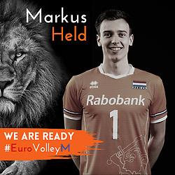 Markus Held of Netherlands, Photoshoot selection of Orange men's volleybal team season 2021on may 11, 2021 in Arnhem, Netherlands (Photo by RHF Agency/Ronald Hoogendoorn)