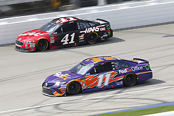 August 12, 2018 - Brooklyn, Michigan, United States of America - Denny Hamlin (11) and Kurt Busch (41) battle for position during the Consumers Energy 400 at Michigan International Speedway in Brooklyn, Michigan. (Credit Image: © Chris Owens Asp Inc/ASP via ZUMA Wire)