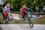 #93 (STEVAUX CARNAVAL Priscilla Andreia) BRA during practice at Round 3 of the 2019 UCI BMX Supercross World Cup in Papendal, The Netherlands