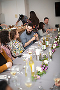 Brooklyn, NY - May 2, 2019: A Farm to Table Fish dinner hosted by Edenworks in Bushwick.<br /> <br /> Photo by Clay Williams.<br /> <br /> © Clay Williams Photo / http://claywilliamsphoto.com