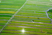 Nederland, Noord-Holland, Gemeente Zeevang, 05-08-2014; strokenverkaveling van het land in Polder Zeevang, gelegen tussen Edam en Hoorn aan het Markermeer.<br /> Polder north of Amsterdam<br /> luchtfoto (toeslag op standard tarieven);<br /> aerial photo (additional fee required);<br /> copyright foto/photo Siebe Swart