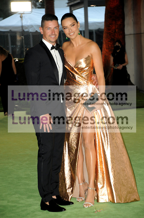 Andre L III and Adriana Lima at the Academy Museum of Motion Pictures Opening Gala held in Los Angeles, USA on September 25, 2021.