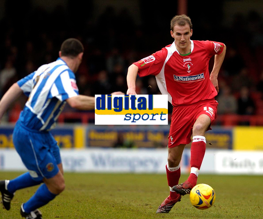 Photo: Leigh Quinnell.<br /> Swindon Town v Chester City. Coca Cola League 2. 24/02/2007. Sofiene Zaaboub on the attack for Swindon.