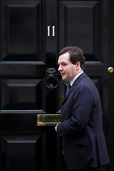 © Licensed to London News Pictures. 03/12/2012. London, UK. The British Chancellor of the Exchequer George Osborne is seen leaving 11 Downing Street in London today (03/12/12). Photo credit: Matt Cetti-Roberts/LNP