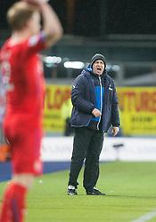 Rangers Kenny McDowall. Falkirk 1 v 1 Rangers, Scottish Championship game played 27/2/2014 at The Falkirk Stadium .