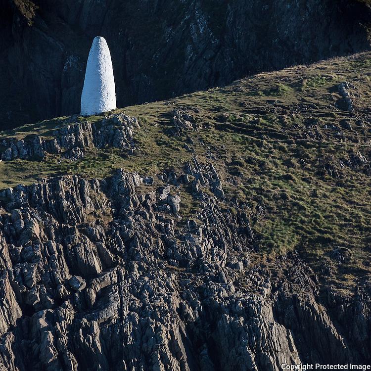 Northern navigation beacon, Porthgain, Pembrokeshire.