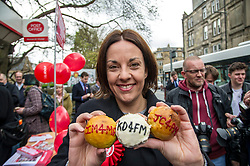 Pictured: Kezia Dugdale<br /> <br /> Scottish Labour's Ian Murray and Scottish Labour leader Kezia Dugdale hit the general election campaign trail in Edinburgh today for the first campaign event of Mr Murray's re-election campaign for the Edinburgh South constituency.<br /> Ger Harley   EEm 21 April 2017