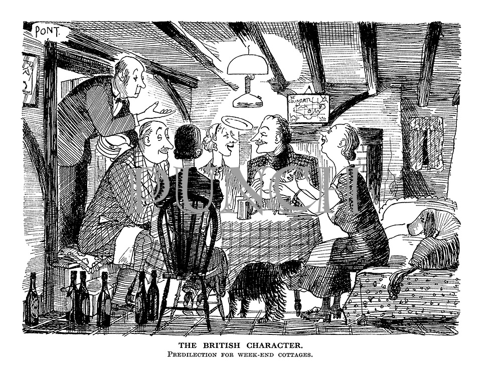 The British Character. Predilection for week-end cottages.