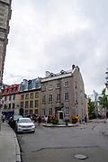At the intersection of Rue des Jardins and Rue Donnacon, Quebec, Canada.