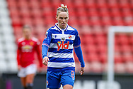 Reading midfielder Jess Fishlock (8) during the FA Women's Super League match between Manchester United Women and Reading LFC at Leigh Sports Village, Leigh, United Kingdom on 7 February 2021.