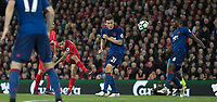 Football - 2016 / 2017 Premier League - Liverpool vs. Manchester United<br /> <br /> Liverpool's Phillippe Coutinho has a shot at goal during the match at Anfield.<br /> <br /> COLORSPORT