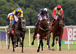 London Prize ridden by Fran Berry (centre) before winning the Betfred Northumberland Vase Handicap ahead of Graceland ridden by Louis Steward during the Betfred Northumberland Plate Day at Newcastle Racecourse.