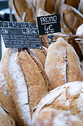 On a street market. Bread. Bordeaux city, Aquitaine, Gironde, France