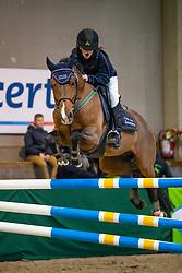 Franken Evelyne, BEL, Reichsgraf Drum van het Juxschot<br /> Nationaal Indoor Kampioenschap Pony's LRV <br /> Oud Heverlee 2019<br /> © Hippo Foto - Dirk Caremans<br /> 09/03/2019