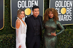 January 6, 2019 - Los Angeles, California, U.S. - Jan 6, 2019 - Beverly Hills, California, U.S. - Rene Bargh Mario Lopez and Tankia Ray during red carpet arrivals for the 76th Annual Golden Globe Awards at The Beverly Hilton Hotel..(Credit: © Kevin Sullivan via ZUMA Wire) (Credit Image: © Kevin Sullivan via ZUMA Wire)