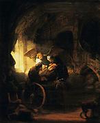 Tobias  Returns Sight to is Father' 1636. Rembrandt van Rijn (1609-1669) Dutch painter. Oil on canvas.