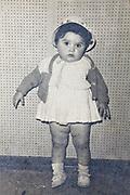 portrait of girl toddler 1950s France