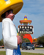 Famed tourist attraction South of the Border along I-95 on the South Carolina border.