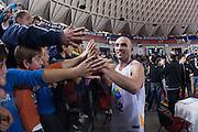 DESCRIZIONE : Roma LNP A2 2015-16 Acea Virtus Roma Mens Sana Basket 1871 Siena<br /> GIOCATORE : Simone Bonfiglio<br /> CATEGORIA : postgame tifosi pubblico esultanza<br /> SQUADRA : Acea Virtus Roma<br /> EVENTO : Campionato LNP A2 2015-2016<br /> GARA : Acea Virtus Roma Mens Sana Basket 1871 Siena<br /> DATA : 06/12/2015<br /> SPORT : Pallacanestro <br /> AUTORE : Agenzia Ciamillo-Castoria/G.Masi<br /> Galleria : LNP A2 2015-2016<br /> Fotonotizia : Roma LNP A2 2015-16 Acea Virtus Roma Mens Sana Basket 1871 Siena