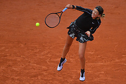 Belarus's Victoria AZARENKA hits a ball during the women's singles second round of the French Open tennis tournament against Japan's Naomi OSAKA at Roland Garros in Paris, France on May 30, 2019. Photo by Christian Liewig/ABACAPRESS.COM