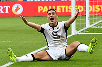 Football - 2019 / 2020 Sky Bet (EFL) Championship - Swansea City vs. Reading<br /> <br /> Connor Roberts of Swansea protests after he is  brought down , at the Liberty Stadium.<br /> <br /> COLORSPORT/WINSTON BYNORTH