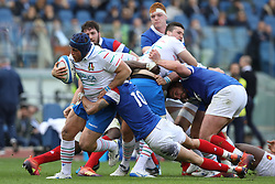 March 16, 2019 - Rome, RM, Italy - Andrea Lovotti of Italy during the Six Nations International Rugby Union match between Italy and France at Stadio Olimpico on March 16, 2019 in Rome, Italy. (Credit Image: © Danilo Di Giovanni/NurPhoto via ZUMA Press)