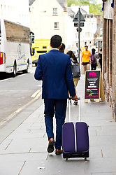 Pictured: Humza Yousaf heads off to the Scottish Parliament<br /> Some people in the transport industry would like to see the back of the Transport Minister Humza Yousaf<br /> <br /> Ger Harley | EEm 15 June 2017