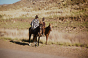 Captioned as 'Basuto Horsemen' South Africa 1979