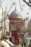 Eclectic style building in Nachlat Binyamin street, Tel Aviv, Israel