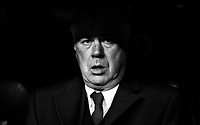 Carlo Ancelotti of Real Madrid and of Valladolid during La Liga match between Real Madrid and Valladolid at Santiago Bernabeu stadium in Madrid, Spain. November 30, 2013. (ALTERPHOTOS/Caro Marin)(EDITORS NOTE: This image has been converted to black and white)