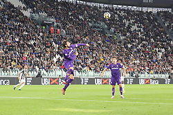 September 20, 2017 - Turin, Piedmont, Italy - Davide Astori (ACF Fiorentina) in action during the Serie A football match between Juventus FC and ACF Fiorentina at Allianz Stadium on 20 September, 2017 in Turin, Italy. .Juventus win 1-0 over Fiorentina. (Credit Image: © Massimiliano Ferraro/NurPhoto via ZUMA Press)