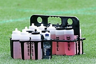 Water Bottles during the EFL Sky Bet Championship match between Hull City and Reading at the KCOM Stadium, Kingston upon Hull, England on 6 April 2019.