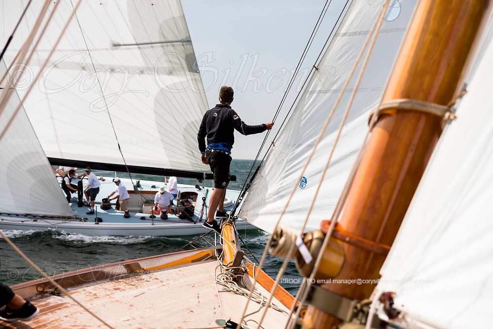 Sailing aboard Marilee in the Sail Nantucket Regatta, day two.