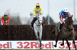 Politologue ridden by Sam Twiston-Davies before going on to win the Unibet Desert Orchid Chase during day two of the 32Red Winter Festival at Kempton Park, Sunbury on Thames.