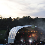 Outdoor stage performing