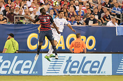 July 19, 2017 - Philadelphia, PA, USA - Philadelphia, PA - Wednesday July 19, 2017: Gyasi Zardes, Bryan Tamacas during a 2017 Gold Cup match between the men's national teams of the United States (USA) and El Salvador (SLV) at Lincoln Financial Field. (Credit Image: © John Dorton/ISIPhotos via ZUMA Wire)