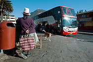 """Urcos retains the characteristic of the old """"Tambo"""" along the Qollasuyo, but now the road is paved and the bus is the transport par excellence"""