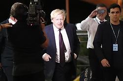 June 9, 2017 - London, London, UK - London, UK. Foreign Secretary BORIS JOHNSON arrives at Uxbridge and South Ruislip election count centre in Brunel University, west London on Friday 9 June 2017. (Credit Image: © Tolga Akmen/London News Pictures via ZUMA Wire)