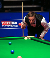 Allister Carter on day five of the Betfred Snooker World Championships at the Crucible Theatre, Sheffield.