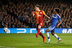 Chelsea Midfielder Willian (BRA) shoots - Photo mandatory by-line: Rogan Thomson/JMP - 18/03/2014 - SPORT - FOOTBALL - Stamford Bridge, London - Chelsea v Galatasaray - UEFA Champions League Round of 16 Second leg.